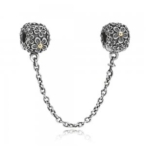 Safety Chain Bouquet w14K and Clip - Pandora PL