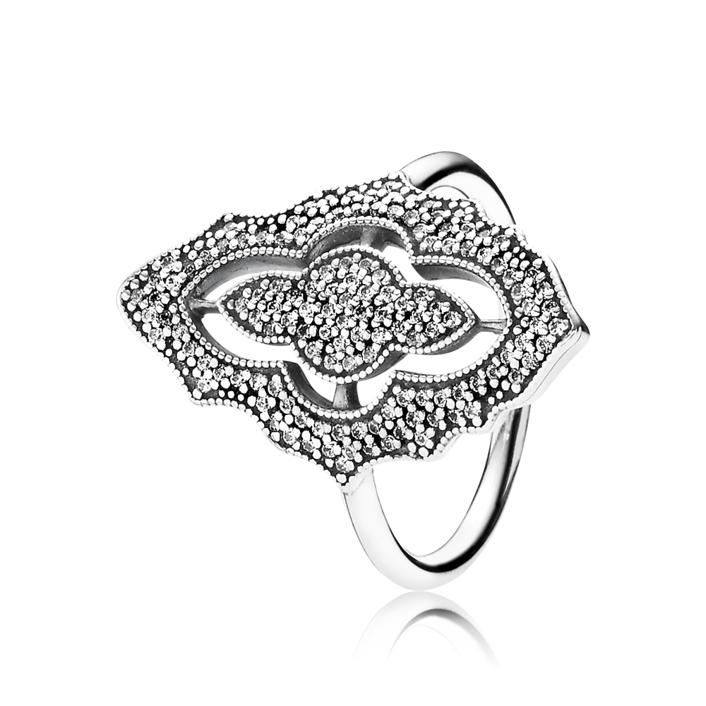 PANDORA Sparkling Lace Ring Clear CZ